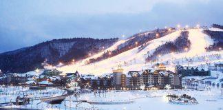 Du lịch Hàn Quốc du khách cùng trải nghiệm các hoạt động trên sân trượt tuyết
